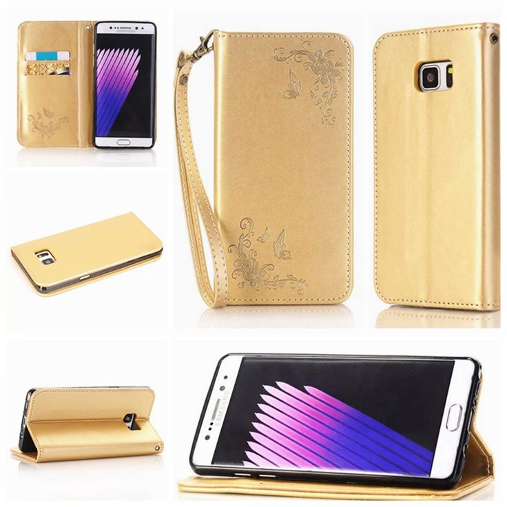 Stylish Synthetic Leather Protective Wallet Card Case For Samsung S5/S6/S7/Note7