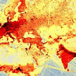 Världskartor - Globalis.se Utsläpp av växthusgaser per kvm CO2
