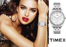 Tündökölj Swarosvki kristályokkal díszített, elegáns női Timex karórával!
