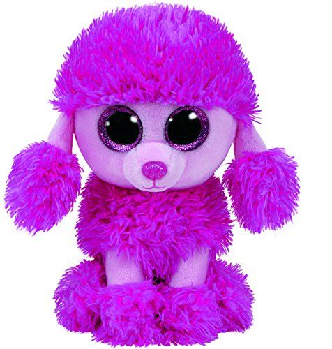 """Ty Beanie Boos PATSY Pink Poodle Dog 6"""" Ty"""