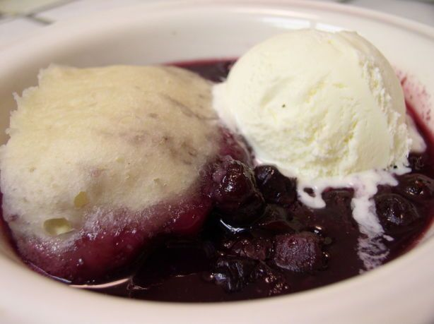 Wonderful way to use fresh or frozen Maine Blueberries! Serve with real whipped cream or Vanilla Bean ice cream. SWEET!