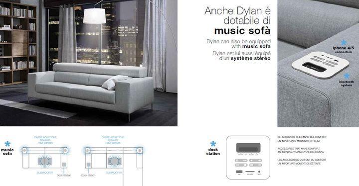 Zene szófa, ülőgarnitúra Dylan - www.montegrappamoblili.hu