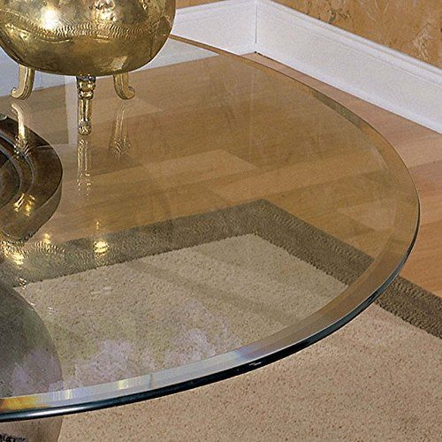 Nice Powell 48 Inch Round Glass Table Top 10mm With 1 Inch Bevel Edge For