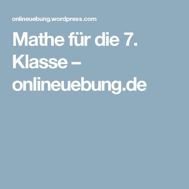 Mathe für die 7. Klasse – onlineuebung.de