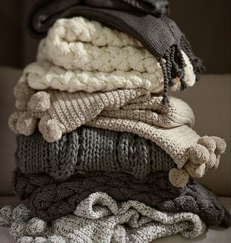 Switch up your pillows and blankets. Incorporate a cozy throw and a few different seasonal pillows and you'll change the whole mood of your bed and couch.