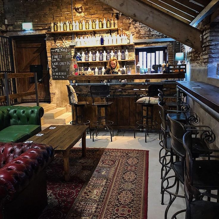 Forest Gin in Macclesfield with our custom bar and tables in situ  Made using reclaimed timber and used industrial steel tubing to give a warm industrial farmhouse feel