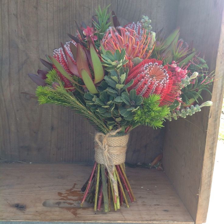 Native Bouquet at Peninsula Wild Flower featuring Banksia Coccinea