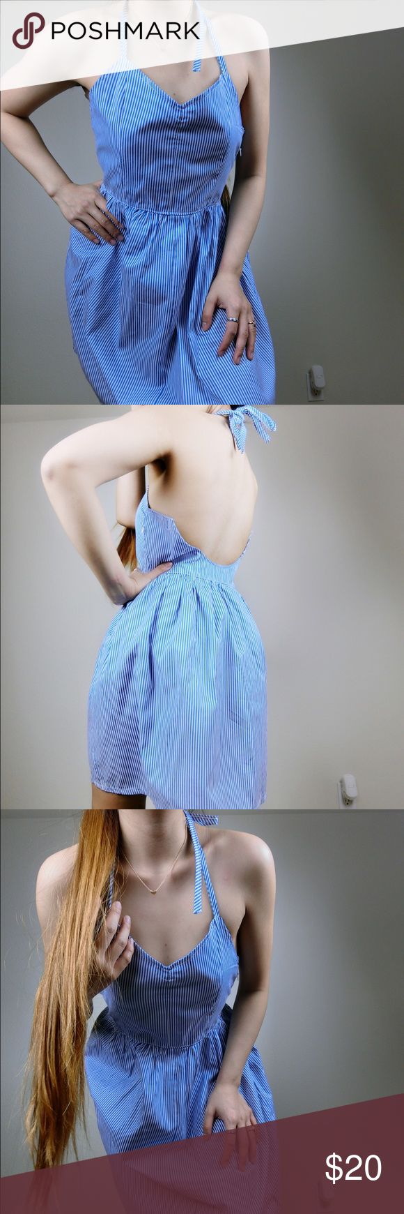 🌸NWOT blue and white long striped dress 🌸 Dresses Midi