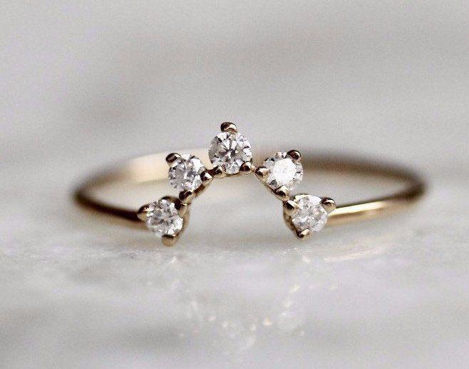 Half Circle Diamond Band #fineweddingrings