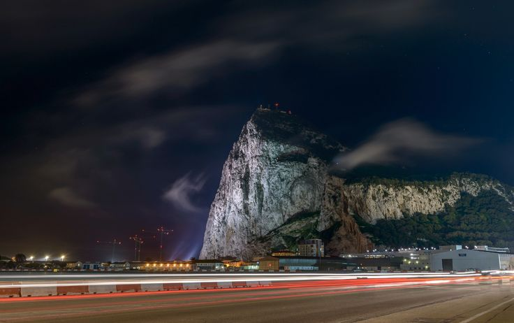 LEVANTER WHISPS By Steve Ball  The first whisps of evening Levanter over the Rock of Gibraltar as the wind swings East.