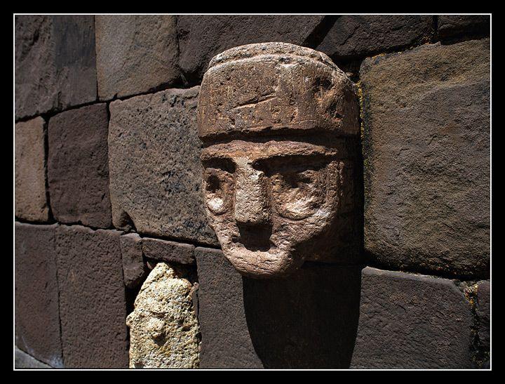 Face of Tiahuanaco, Tiwanaku, Bolivia
