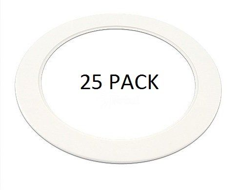 25 Packu2014 White Finish Designed For A 6 Inch Recessed Trim Ring Ceiling Light  Fixture. Outside Diameter: Approximately 7 Inches Or 20 Centimeters