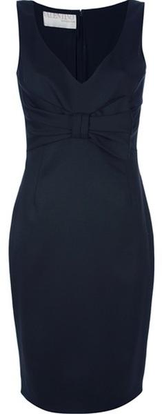 VALENTINO Bow Detail Shift Dress - Lyst