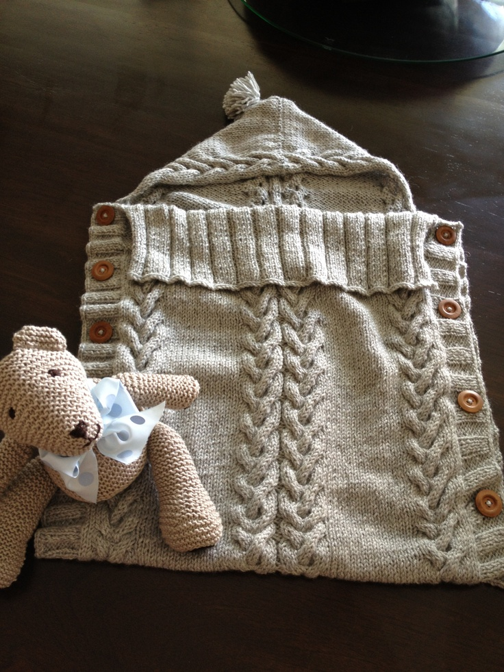 Knitting Pattern Baby Hooded Blanket : Baby hooded blanket. Just finished knitting it : ) loooved the way it turned ...