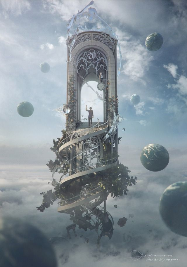 Knocking on heaven's door Picture (3d, fan art, surrealism)
