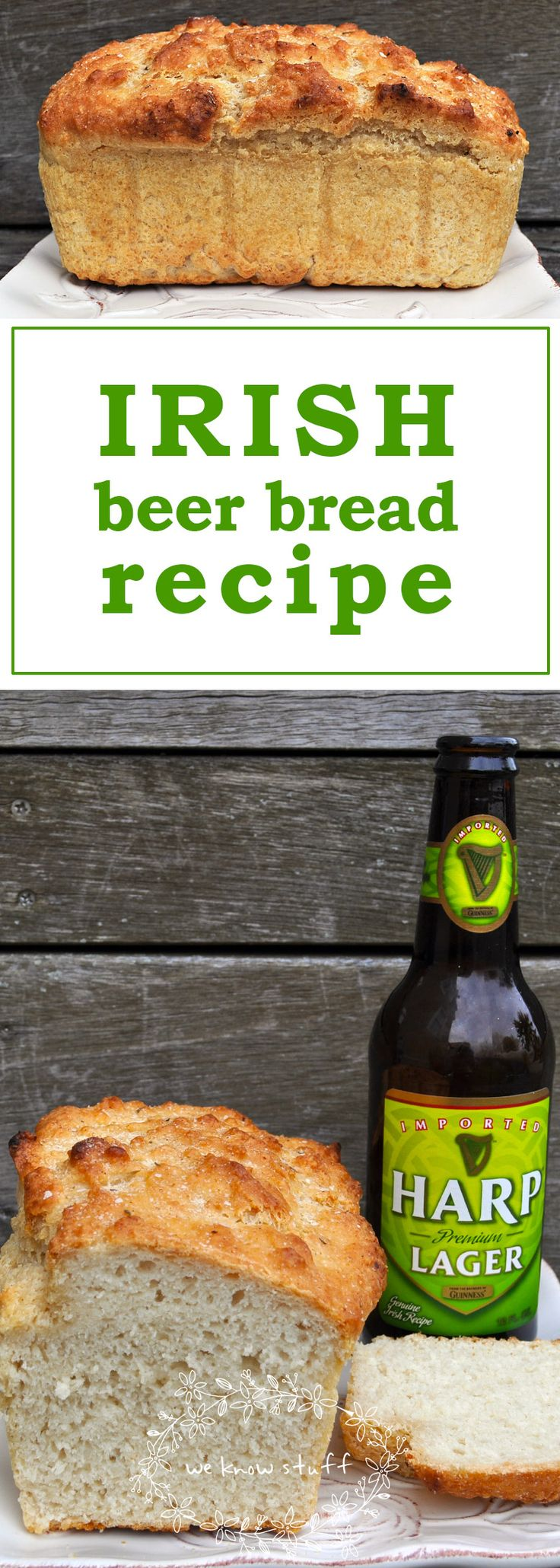 Irish Beer Bread not only tastes great, but it's a really fun science experiment for the kids! They loved watching the beer explode in the batter.