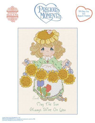 Precious Moments - pm may the sun free pattern