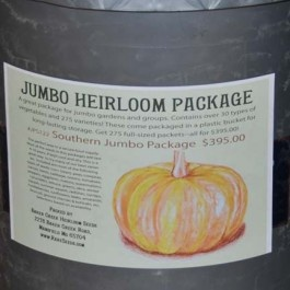 Heirloom seeds!  A must for prepping.  Heirloom seeds have not been altered, and therefore the seeds from the fruits and veggies are fertile and can be planted.  Found at rareseeds.com/...