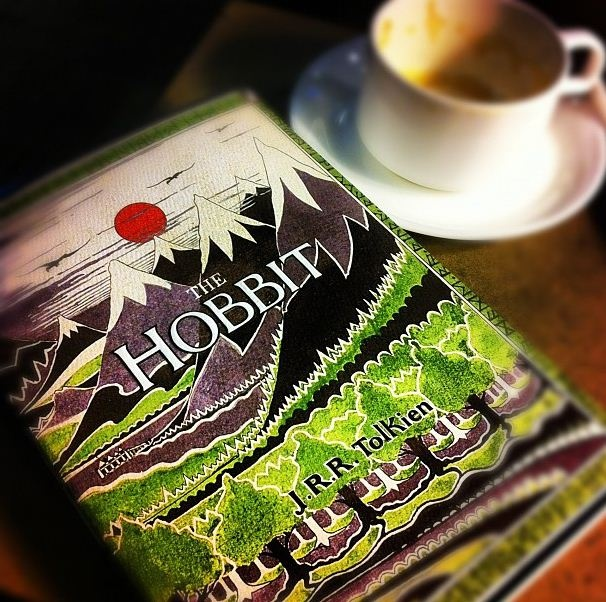 The Hobbit being read in Porter lounge.