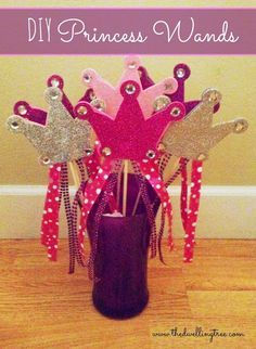 DIY Princess Wands. So easy and cheap, perfect for birthday parties!