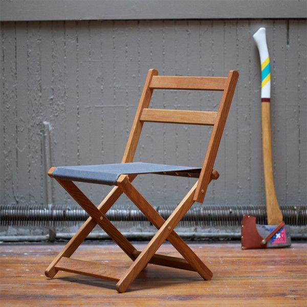 Camp Chair - Best Made Company  http://www.bestmadeco.com/collections/home-goods/products/the-folding-camp-chair