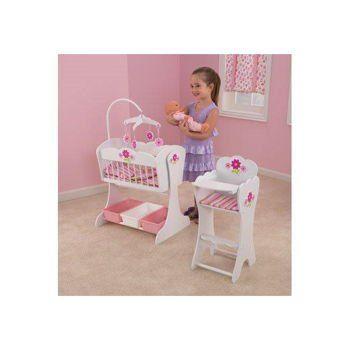 Kidkraft Floral Fantasy Doll Furniture Set Cradle Amp High