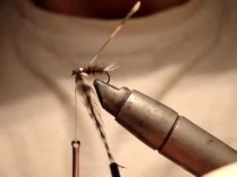 Fly tying - Zuev Nymph (вязка\вязание мушек- Zuev Nymph) - YouTube