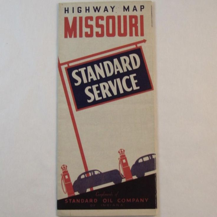 1930s Standard Oil Road Map - Missouri.  Learn more at www.rubylane.com/shops/ssmooreantiques