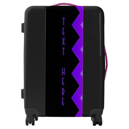 Unique Purple on Black Personalized Luggage - eye catching gifts gift ideas cyo custom birthday presents