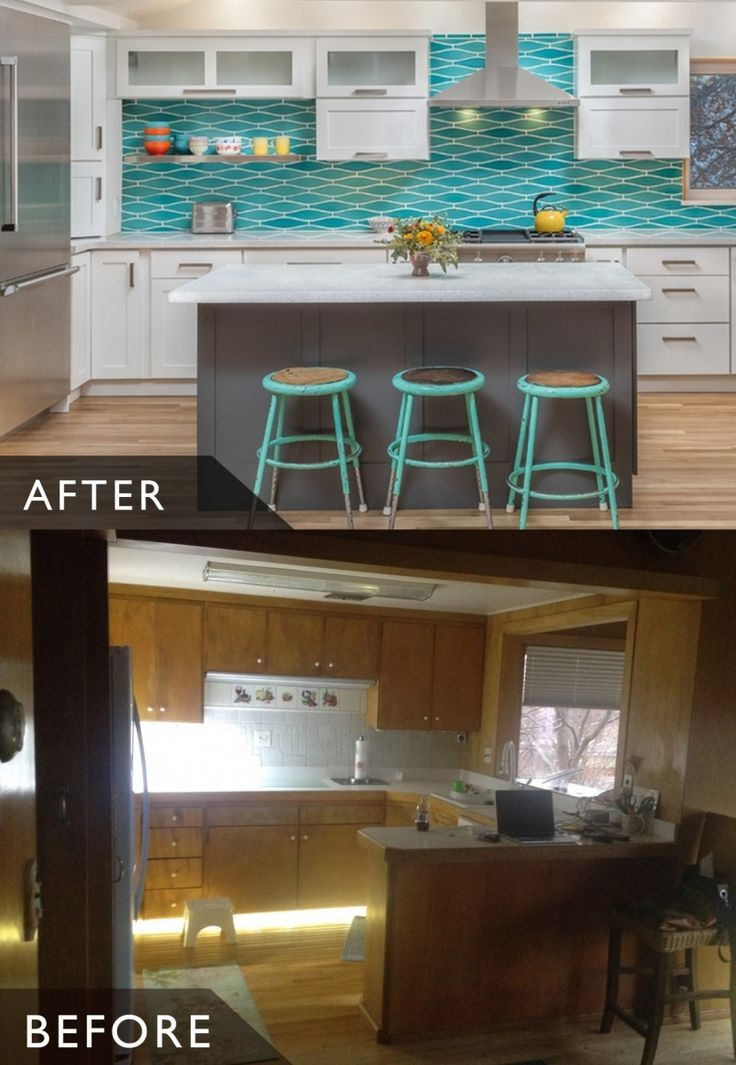 Remodeling Stories: (A before and after photo) A Splash of Turquoise in a White Kitchen – This well-loved Alaskan home has been in the family for generations but the kitchen felt dark, crowded and no-longer functional. The homeowner desperately wanted a bright, modern space with enough room to entertain… Read more on the Dura Supreme Blog.