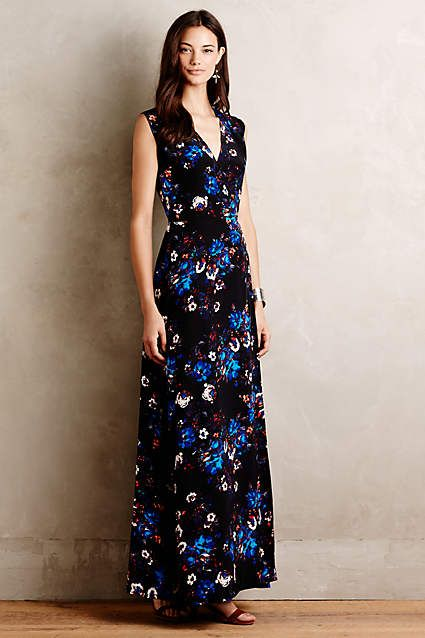 1000 ideas about silk maxi dresses on pinterest ted for Anthropologie mural maxi dress