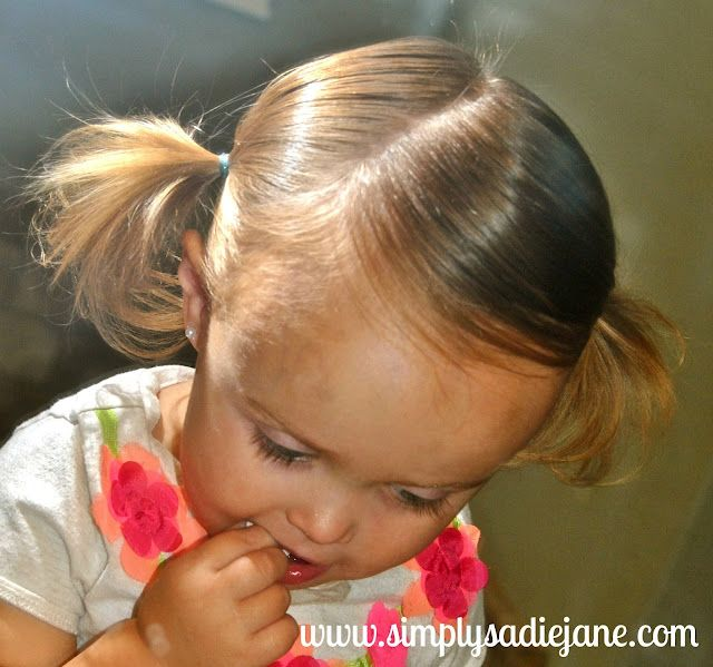 toddler/baby hair styles- her earlier post is for shorter baby hair & second is for longer toddler hair. Some cute ideas!