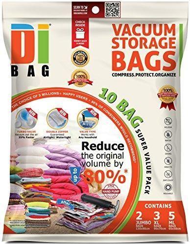 Oferta: 19.99€ Dto: -33%. Comprar Ofertas de DIBAG® - 10 Piezas Set - Bolsas ahorradoras de espacio para ropa, edredones, mantas y almohadas. 2 X-JUMBO (130*90 cm) + 3 XL barato. ¡Mira las ofertas!