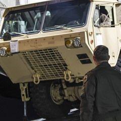 U.S. Alliance installs a Terminal High Altitude Area Defense (THAAD) on the Korean Peninsula