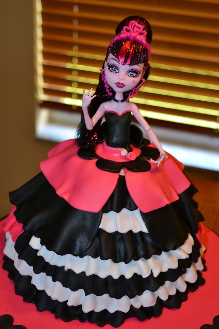 Monster high doll cake Kenzie wants one for her birthday.