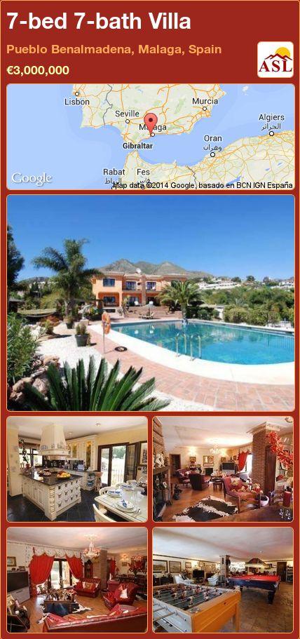 7-bed 7-bath Villa in Pueblo Benalmadena, Malaga, Spain ►€3,000,000 #PropertyForSaleInSpain