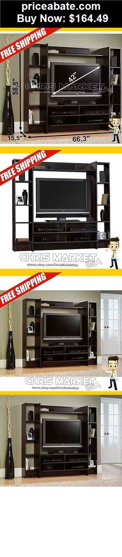 Furniture: Cherry Home Entertainment Furniture Cabinet TV Stand Center Wood Storage  - BUY IT NOW ONLY $164.49