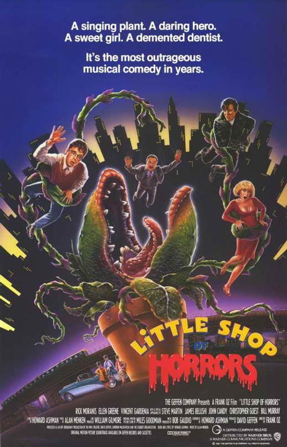 Little Store of Horrors (1986) 11 x 17 film poster Rick Moranis musical comedy Ellen Greene man-eating plant Steve Martin dentist John Sweet