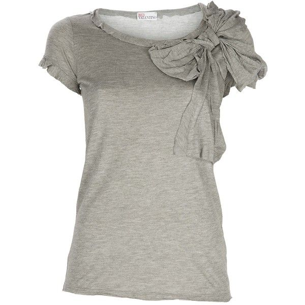 Top: Tees, Cute Tops, Red Valentino, Clothing, Adorable Shirts, Bows, Jersey T Shirts, Pinterest Closet, Jersey Tshirt