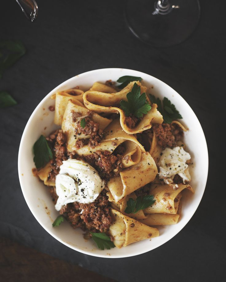 Classic Bolognese with Homemade Tagliatelle + Buffalo Mozzarella — a Better Happier St. Sebastian