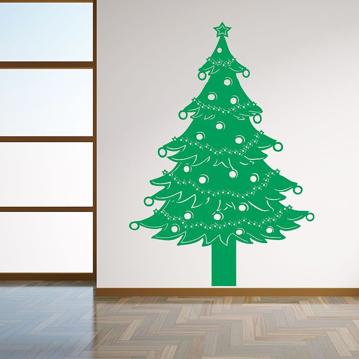 wall sticker christmas tree decal decals abstract kids games activities amp novelty stickers art