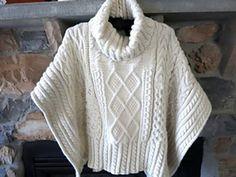 Ravelry: Poncho of the Month pattern by Hunt Valley Cashmere