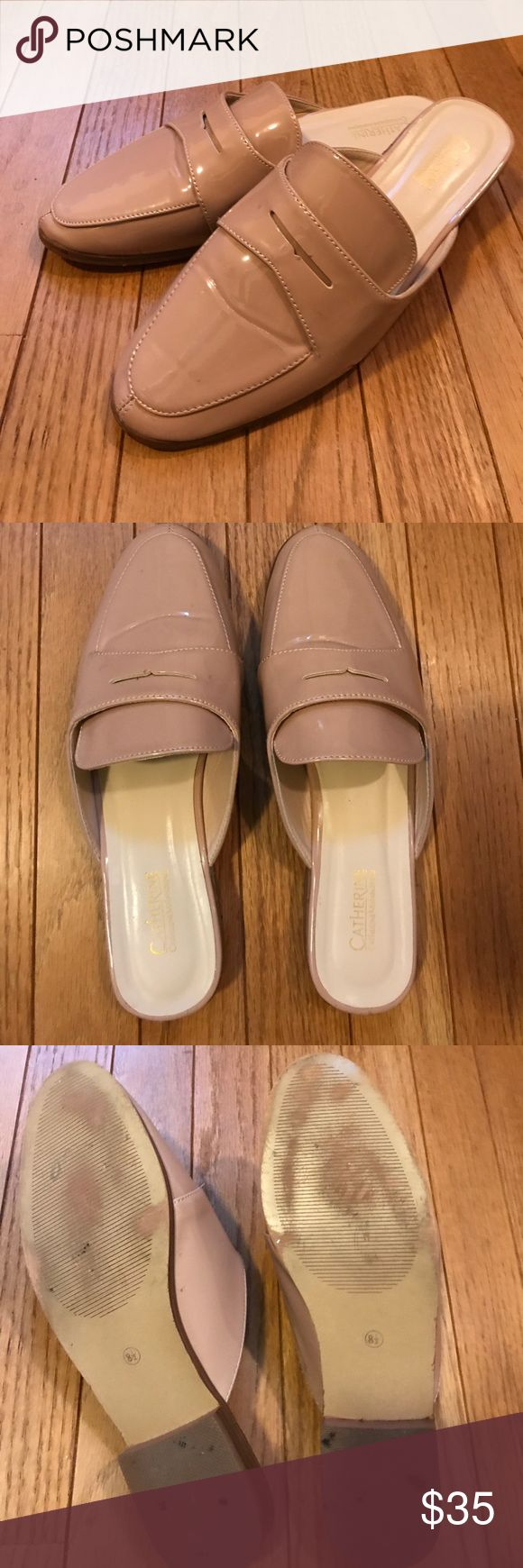 Catherine Malandrino loafer slides Super cute blush pink loafer slides from Catherine Malandrino. Worn twice as seen from sole. Recent purchase. Please comment for additional information. Catherine Malandrino Shoes Flats & Loafers