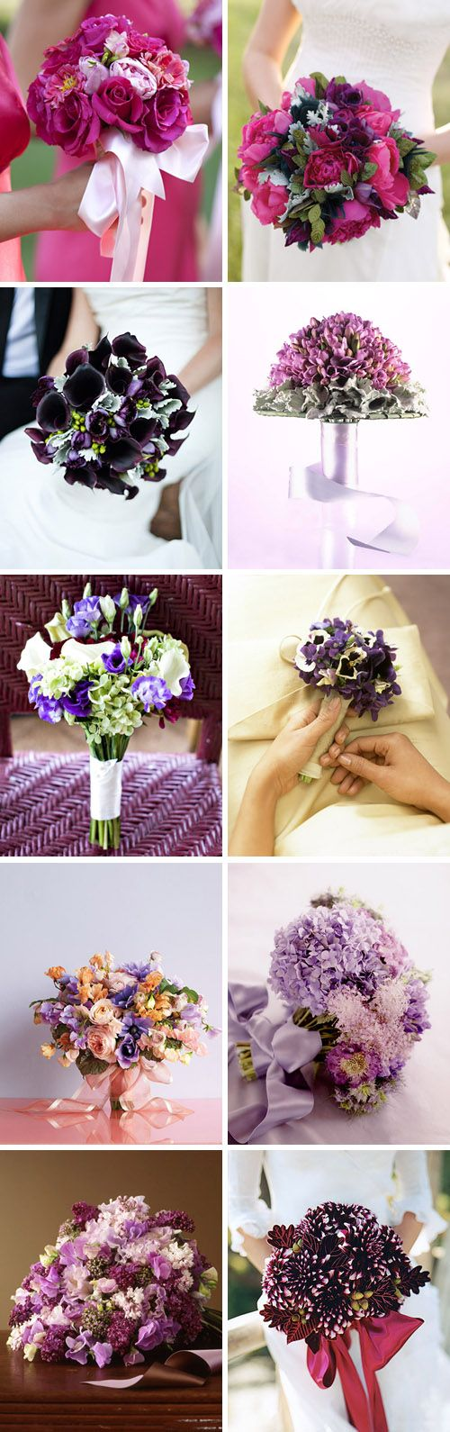 Esküvői virágok - továbbra is lila