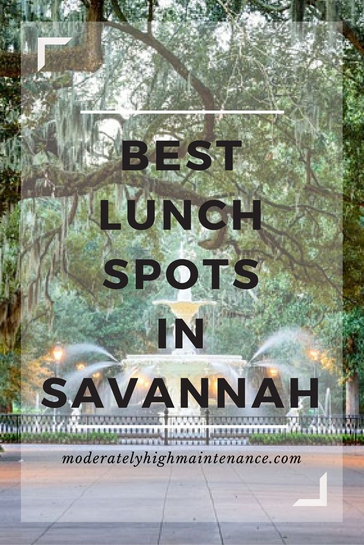My Absolute FAVORITE Lunch locations in Savannah! Click through to get the details