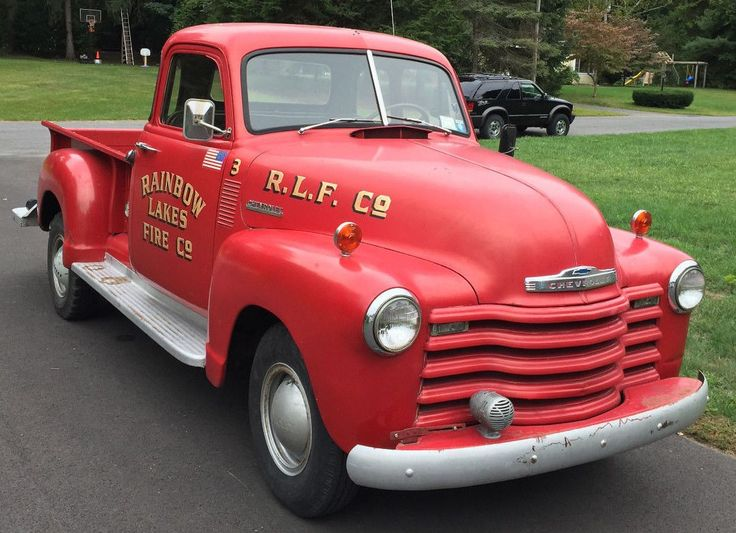 Little Red Fire Truck: 1952 Chevy Pickup - http://barnfinds.com/little-red-fire-truck-1952-chevy-pickup/