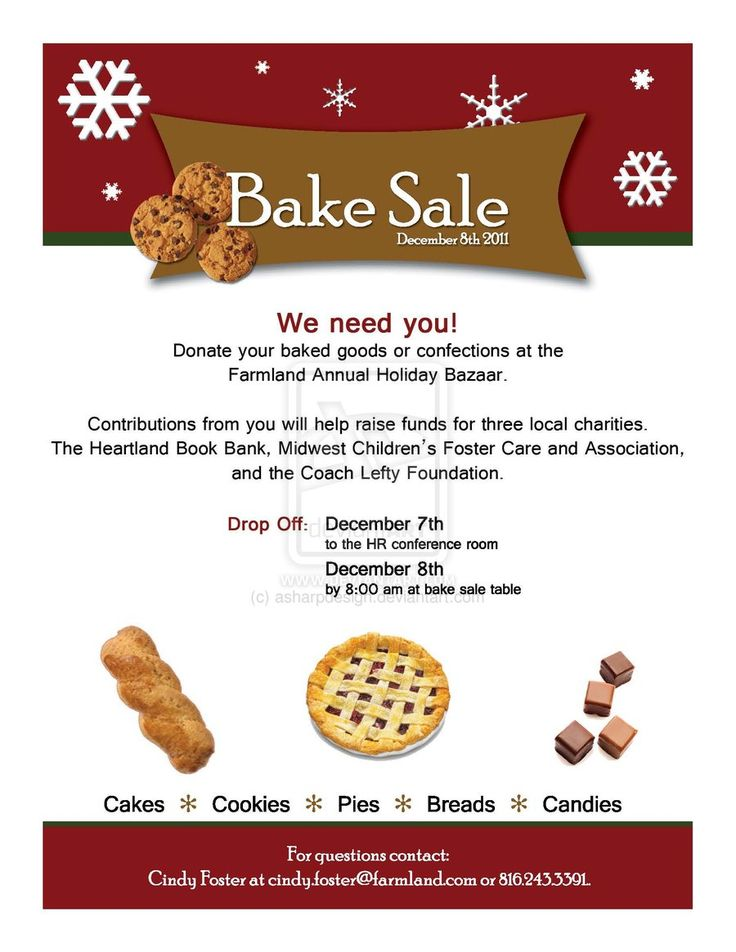 Bake Sale Template Images - Reverse Search