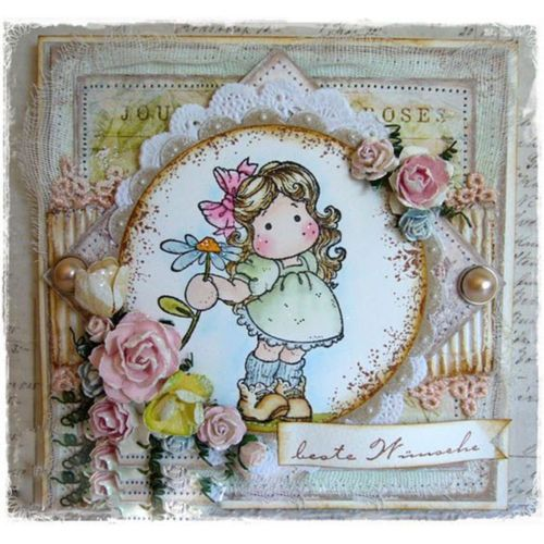 Paper DIY Crafts Scrapbooking Cutting Dies Stencils Girl Clear Stamps Embossing