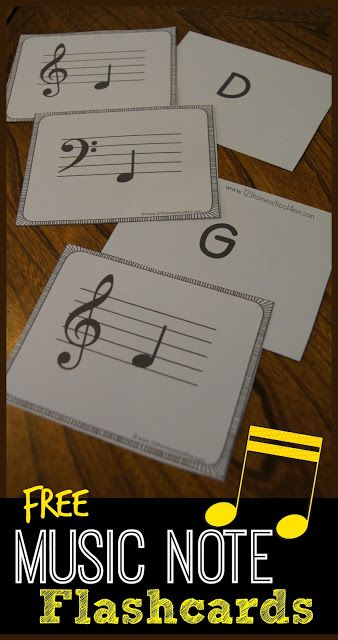 FREE Music Note Flashcards (Living Life Intentionally)