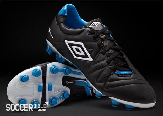 Umbro Speciali III Pro Football Boots - Black/White/Blue http://www.soccerbible.com/news/football-boots/archive/2012/01/06/umbro-speciali-iii-pro-football-boots-black-blue.aspx